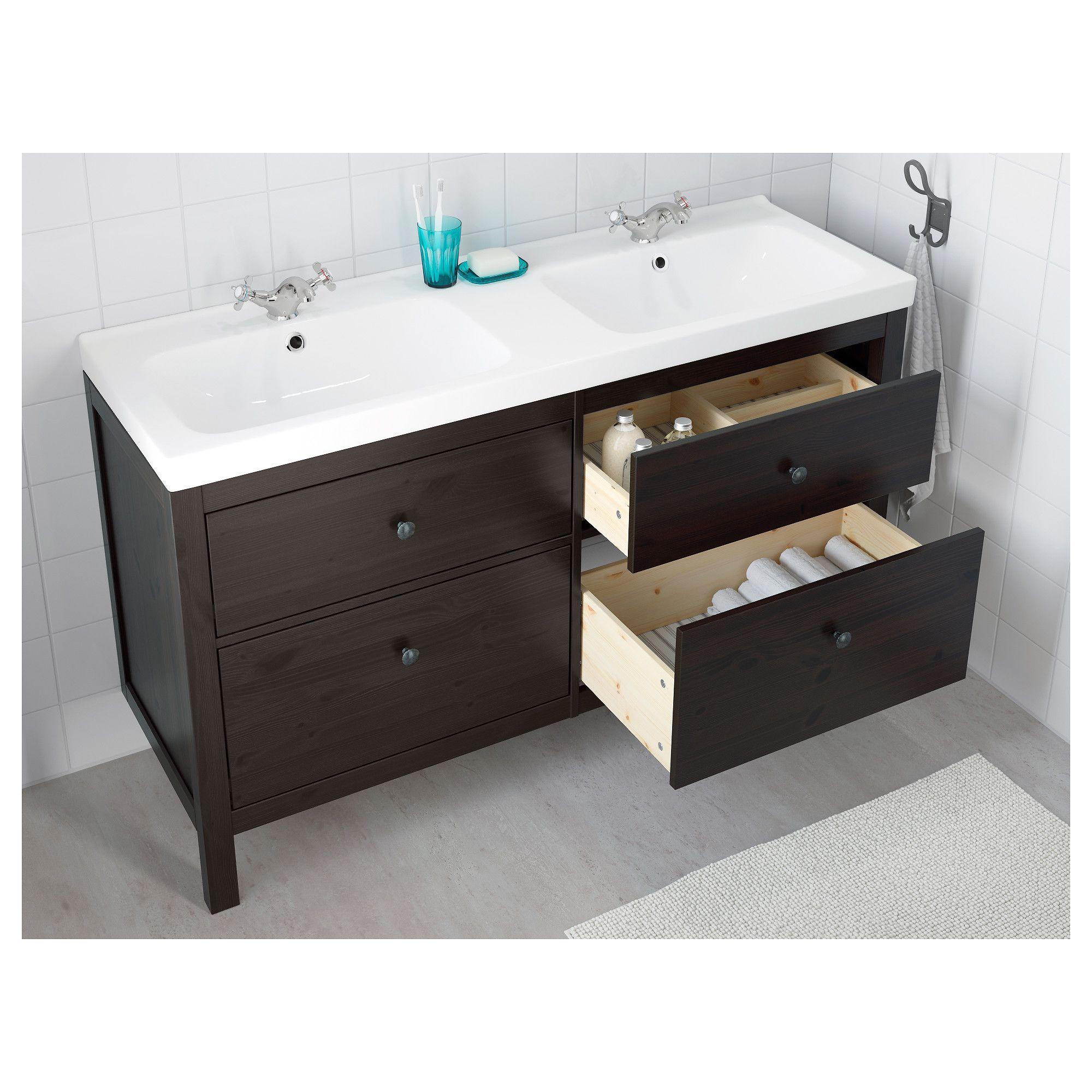 ikea hemnes bathroom vanity black brown stain ikea on ikea bathroom vanities id=83898