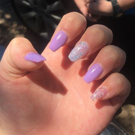 Itssjayduhh Purple Acrylic Nails Acrylic Nails Coffin Short Acrylic Nails Coffin Glitter