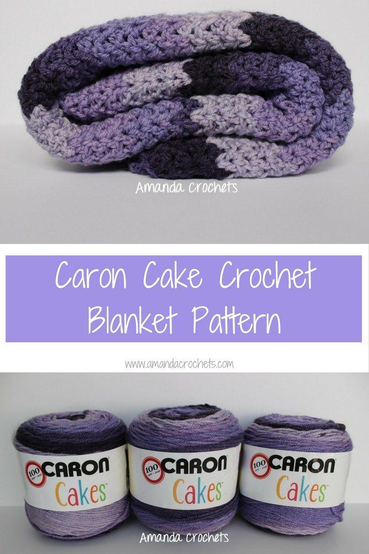 Caron Cake Crochet Blanket Pattern | Crochet | Pinterest | Manta ...