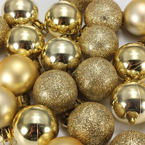 Decorative Marble Balls 24Pcs Chic Christmas Baubles Tree Plain Glitter Xmas Ornament Ball