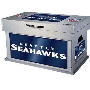 NFL Seahawks Wood Foot Locker -- Good for Toy Box?   nursery