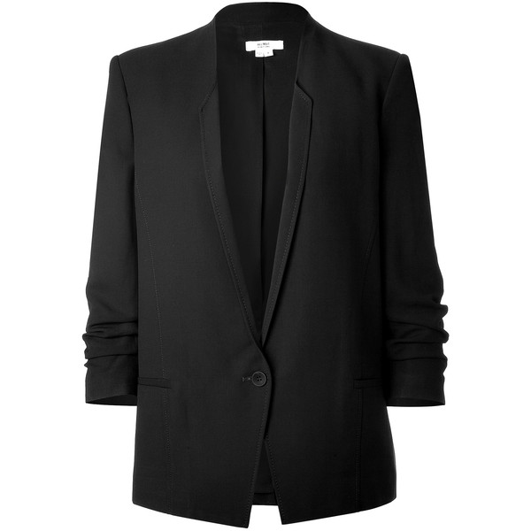 HELMUT LANG Slouchy Cropped Sleeve Blazer found on Polyvore