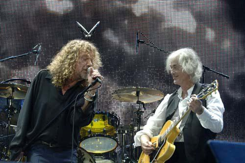 Robert Plant and Jimmy Page via Jimmy Page FB page