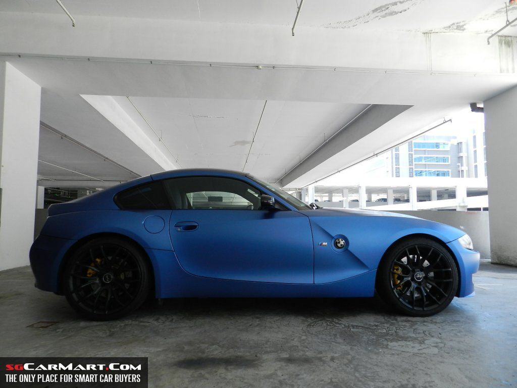 Matte Frozen Blue Bmw Z4m Coupe Bmw Bmw Z4 Coupe Cars