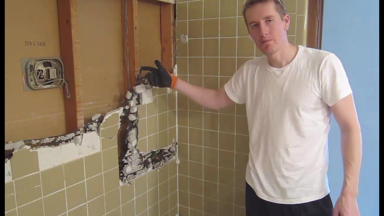 Demo Small Bathroom Remodel Part 1 Youtube Small Bathroom