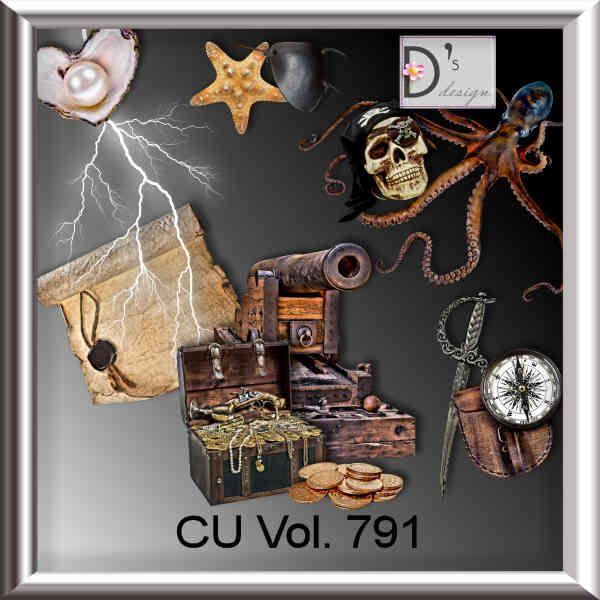 Vol. 791 - pirate - ocean by Doudou's Design, cu, commercial, scrap, scrapbook, cudigitals.com