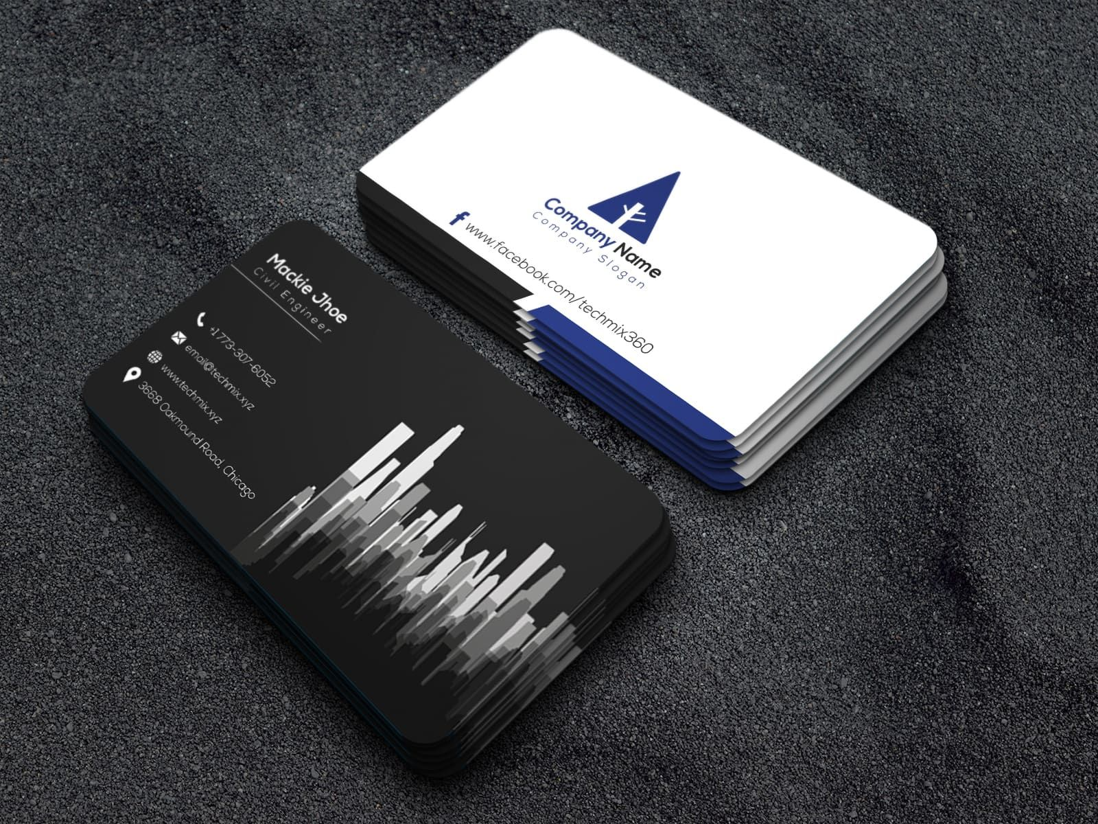 Civil engineer visiting card visiting cards business