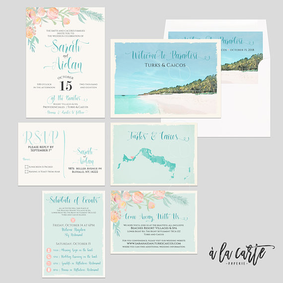 Turks And Caicos Caribbean Beach Destination Wedding