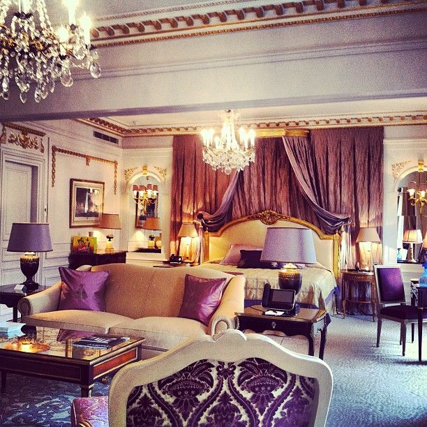hotel plaza athenee presidential suite - Purple Hotel Decor