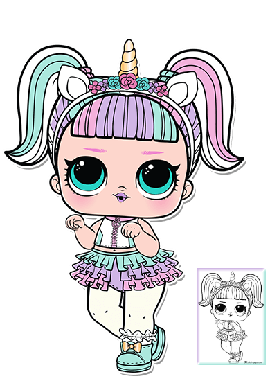 Unicorn Lol Doll Coloring Pics