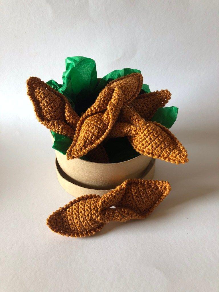 Hæklede jule småkager-klejner #hækletjul