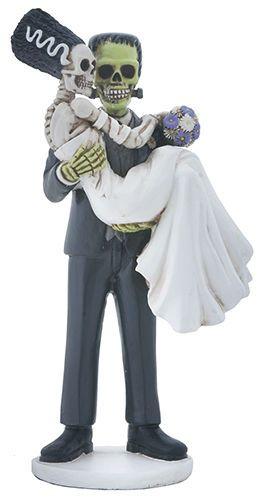 Superb Frankenstein U0026 Bride Loving Couple Halloween Wedding Cake Topper Statueu2026