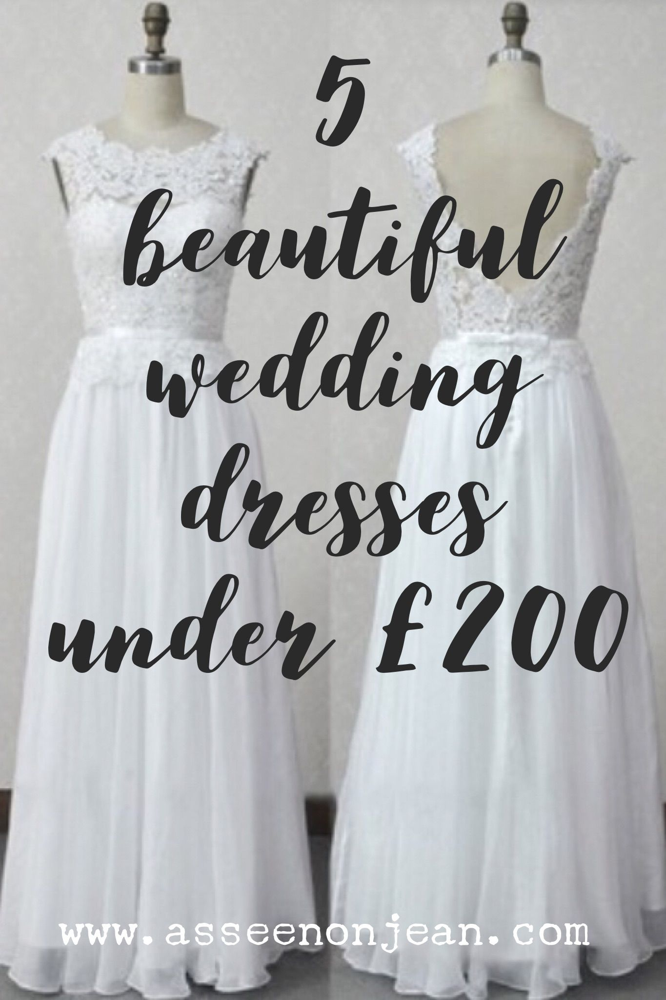 5 beautiful wedding dresses that cost less than £200. Such amazing ...