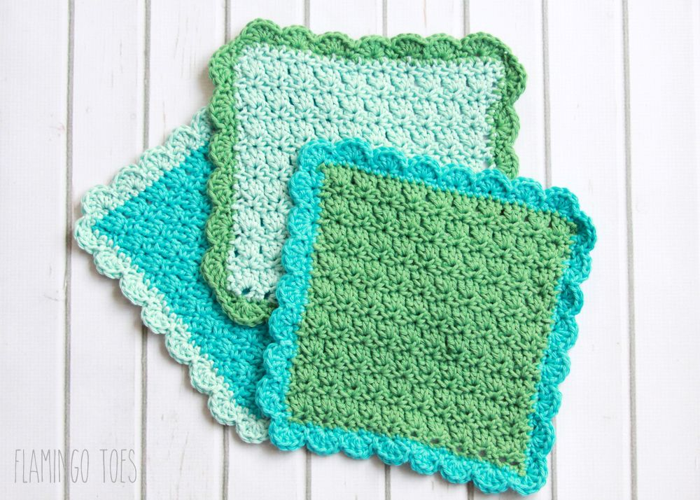Easy Crochet Dish Cloth Pattern - | Ganchillo