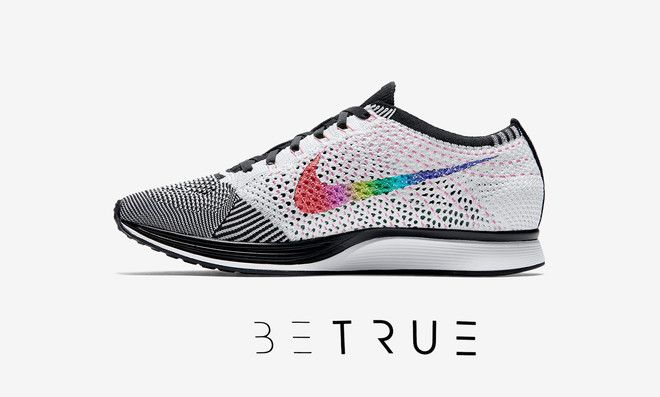 super popular cf161 3aa0a Nike Flyknit Racer Be True LGBT