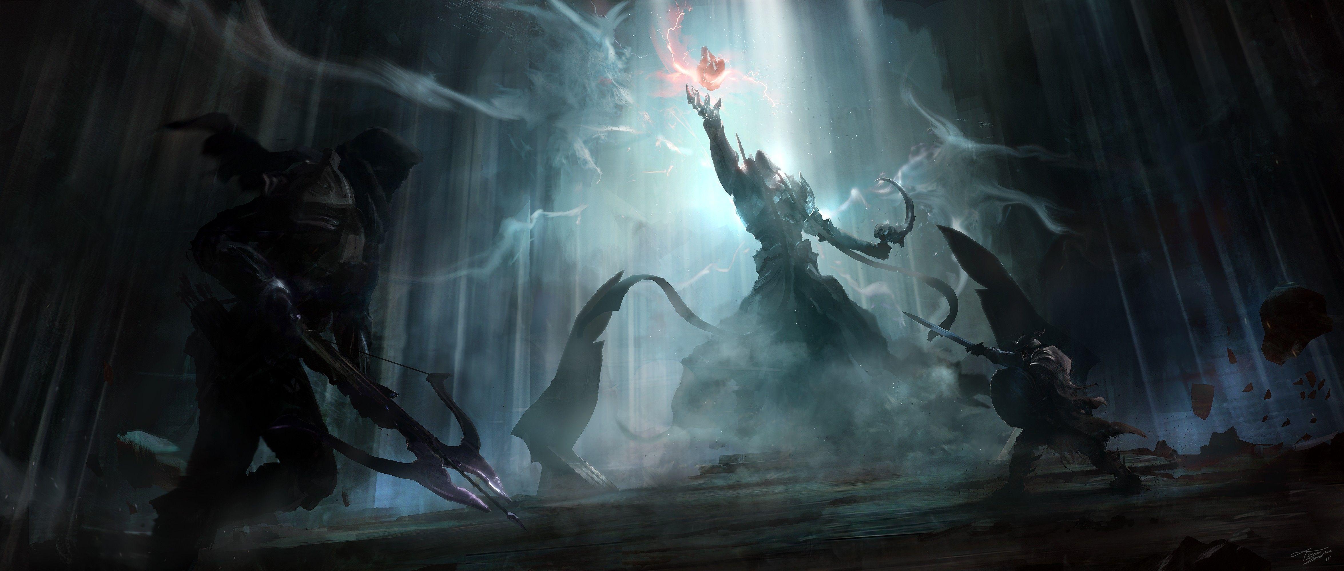 Diablo 3 Reaper Of Souls Warriors Boss Artwork Painting