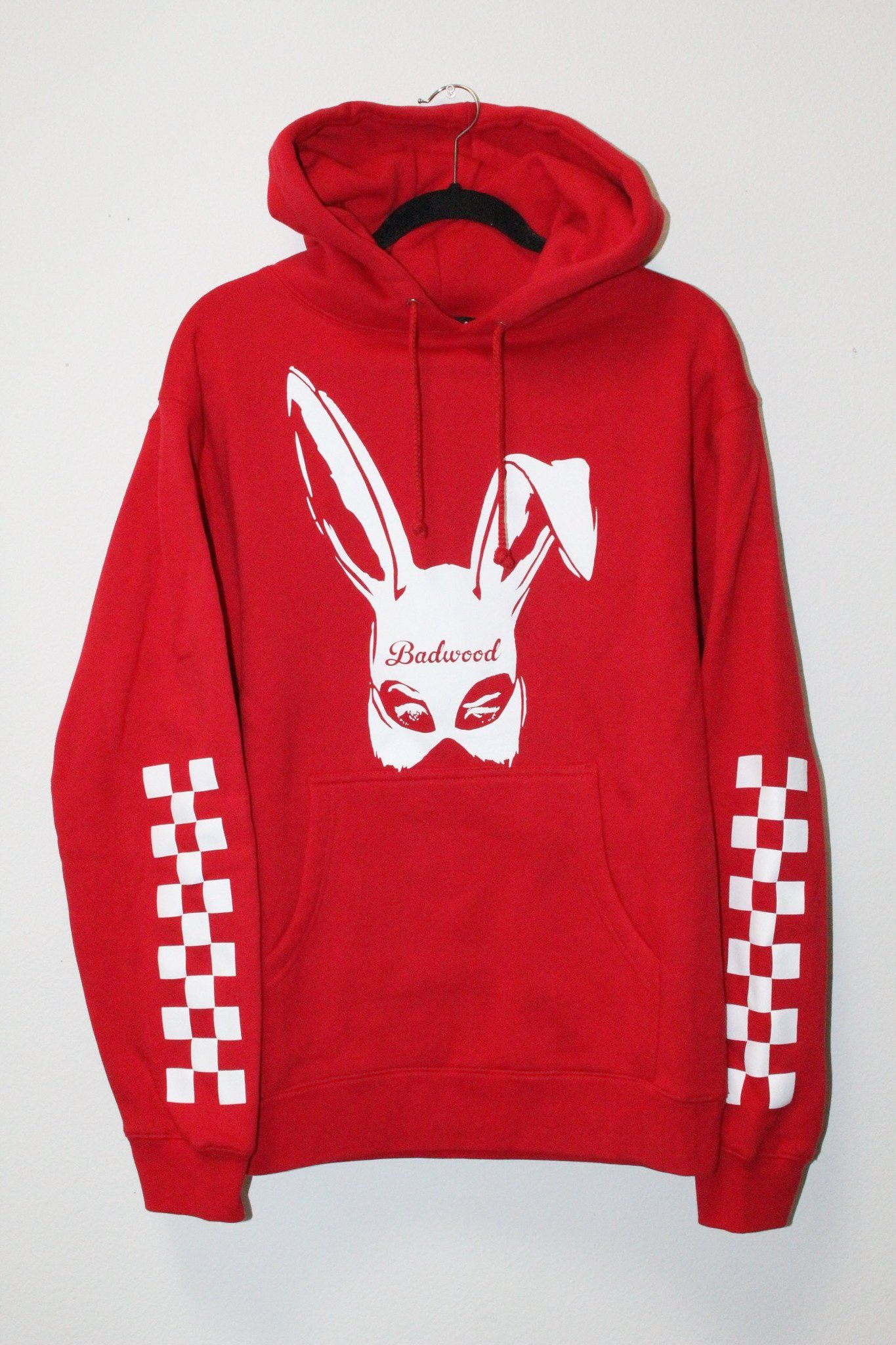 c36bba4028 Bad Bunny Hoodie in RED | Did You See That Outfit ? | Hoodies, Red ...