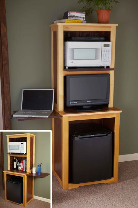 College dorm storage ideas klockit studio space saver cabinet plan organization - Small space microwave photos ...
