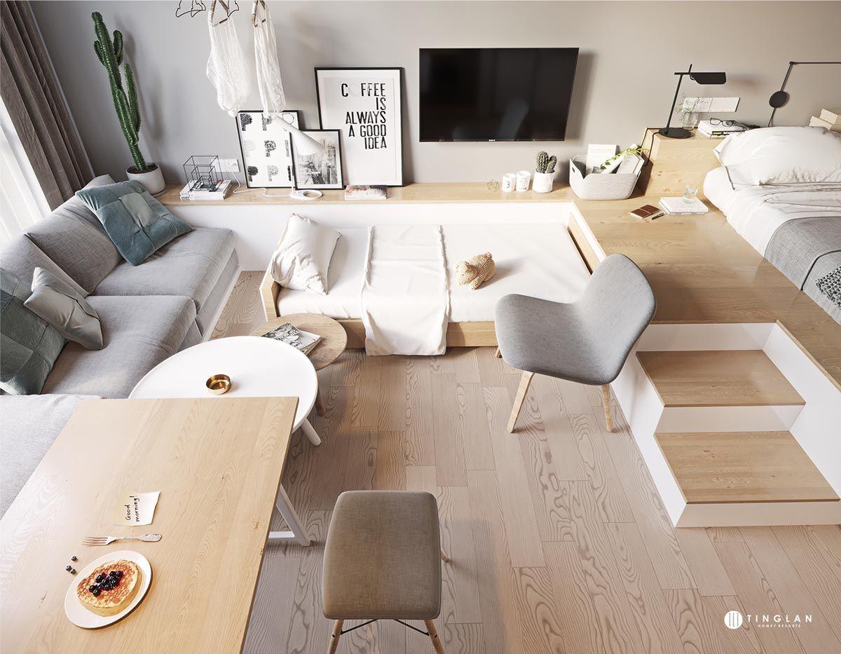 Three Cozy Apartments That Maximize A Small Space Small Apartment Bedrooms Small Apartment Interior Small Room Design