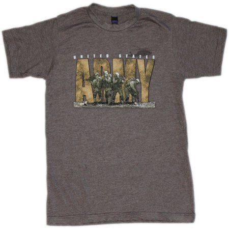f5a3e3662 HighVis Design Army Select Comfort Wear Big Men's Graphic Tee, Size: 2XL,  Brown