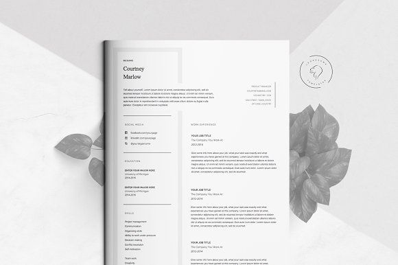 ❥ 5 Page Creative Resume Kit for Microsoft Word Popular Resume - template resume microsoft word