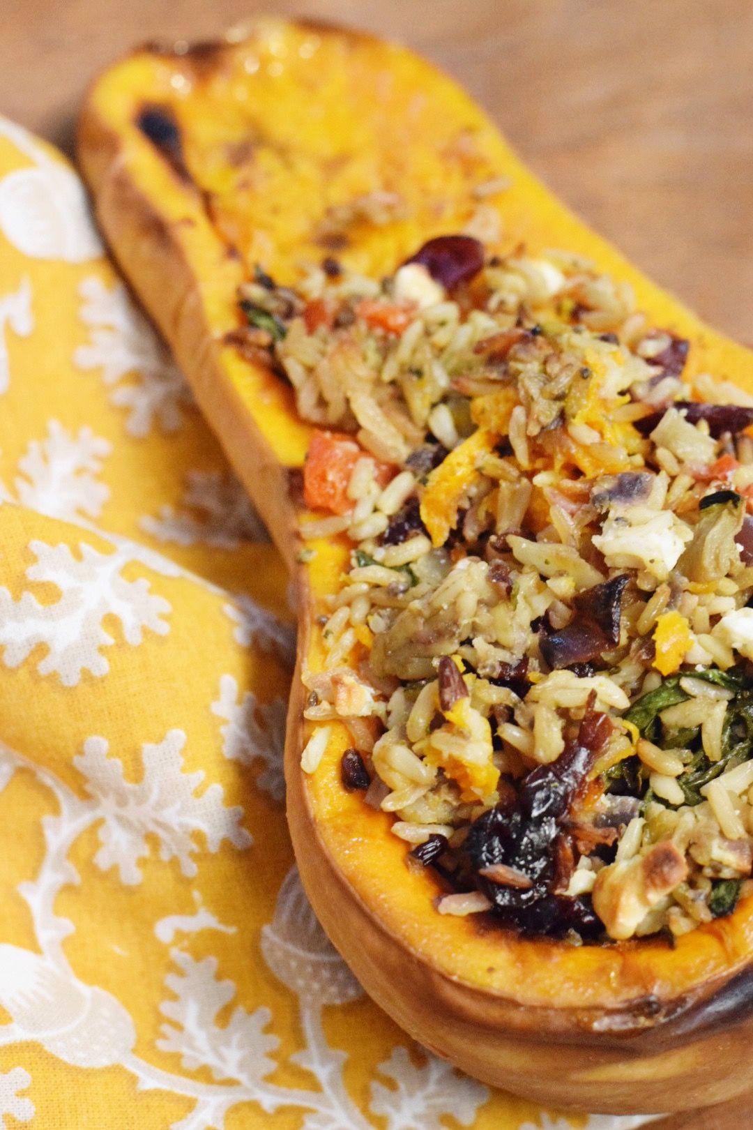 Stuffed Butternut Squash Food recipes, Fall recipes