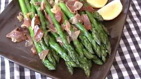 Asparagus with Ham and Lemon Allrecipes.com