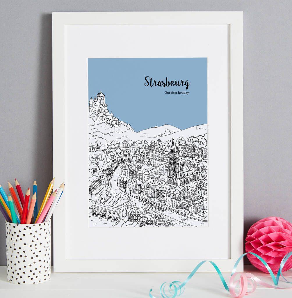 Personalised Strasbourg Print