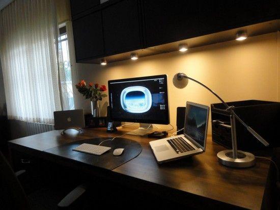 Me dream set up macbook pro macbook air and cinema display
