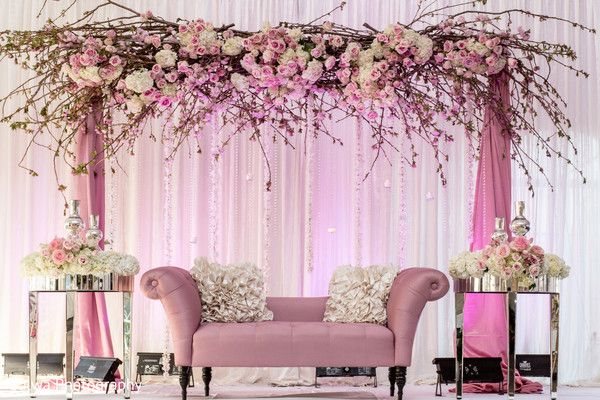 Photo Floral Decor Wedding Decor Elegant Wedding Stage Decorations Pink Wedding Decorations