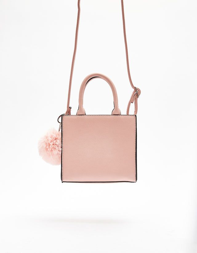 9d4e74e76ada Pom Pom Mini Tote Bag from Bershka £14
