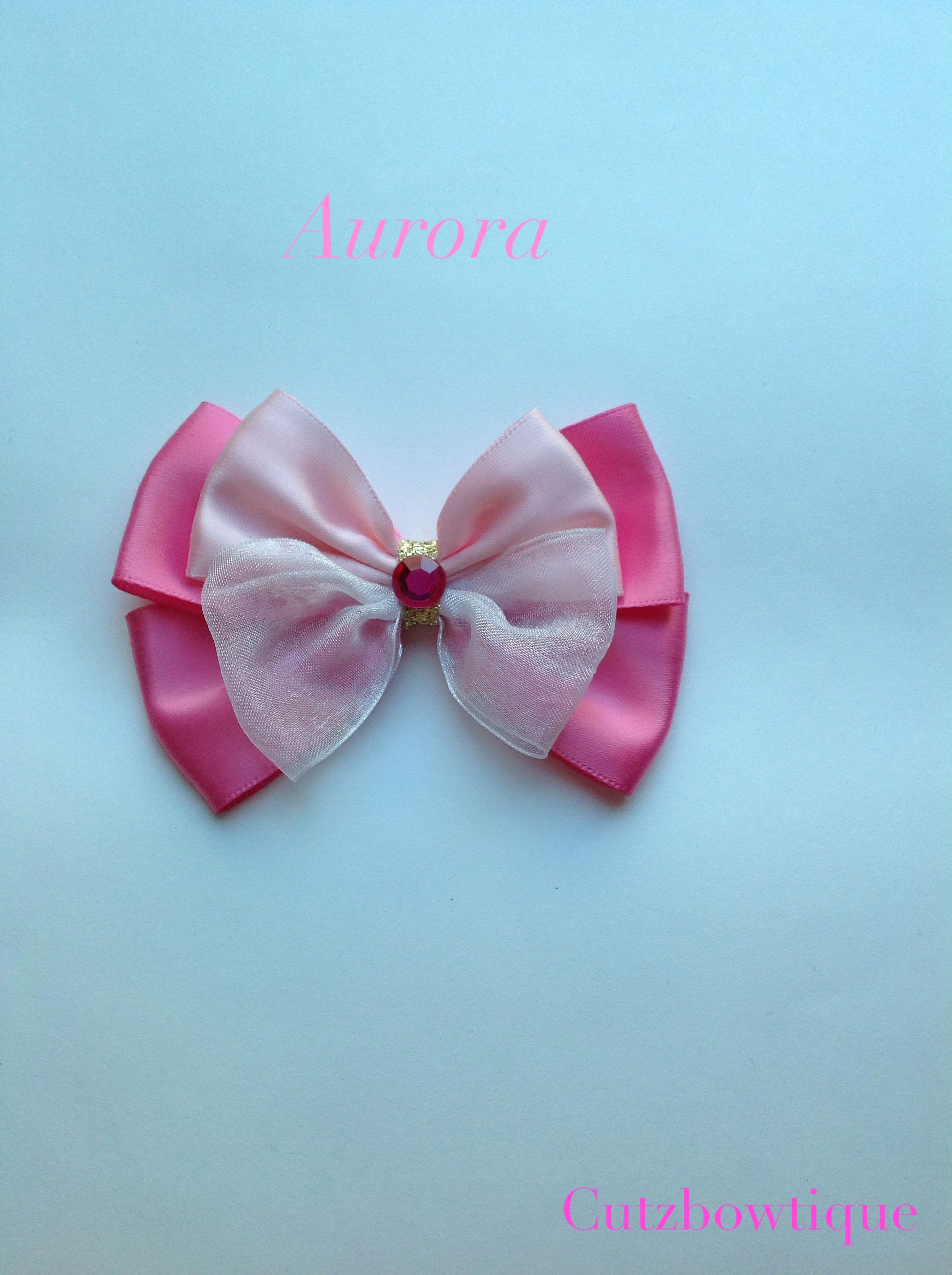 Handmade Disney Aurora Hair Bow