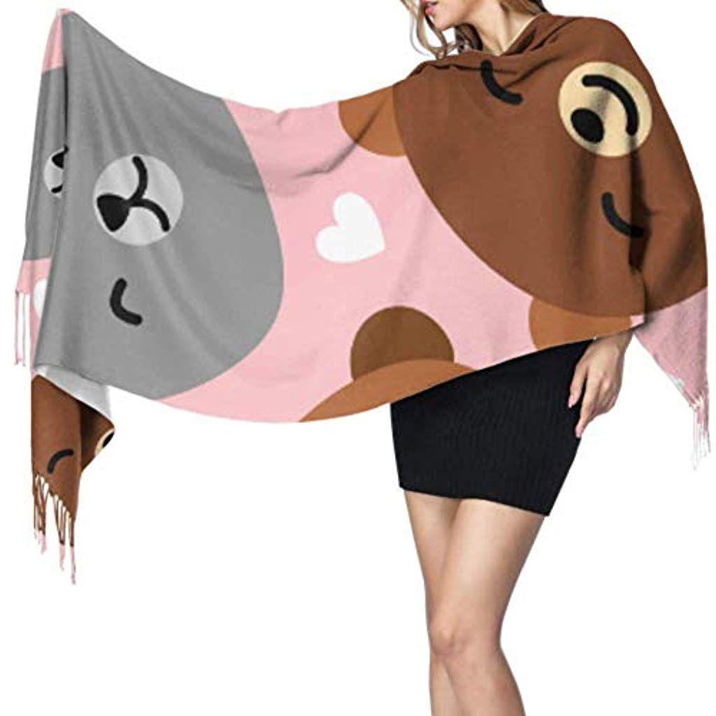 27x77 Mens Shawl Wrap Cute Cartoon Bears Mens Scarf Wrap Wrap Or Shawl Stylish Large Warm Blanket