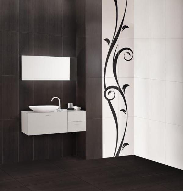Novogres casual negro blanco decor aroma fonte for Casual bathroom ideas