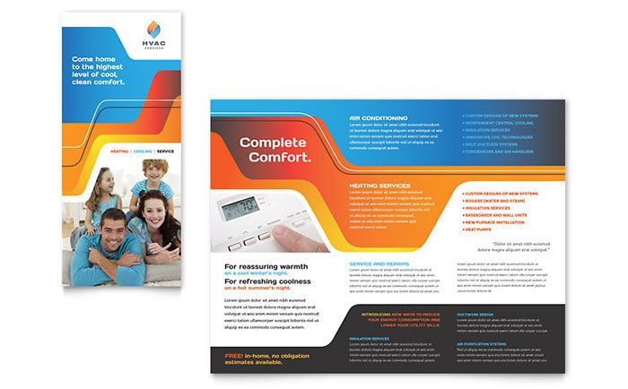 HVAC Brochure Template Design by StockLayouts Projects to Try - free brochure templates microsoft word