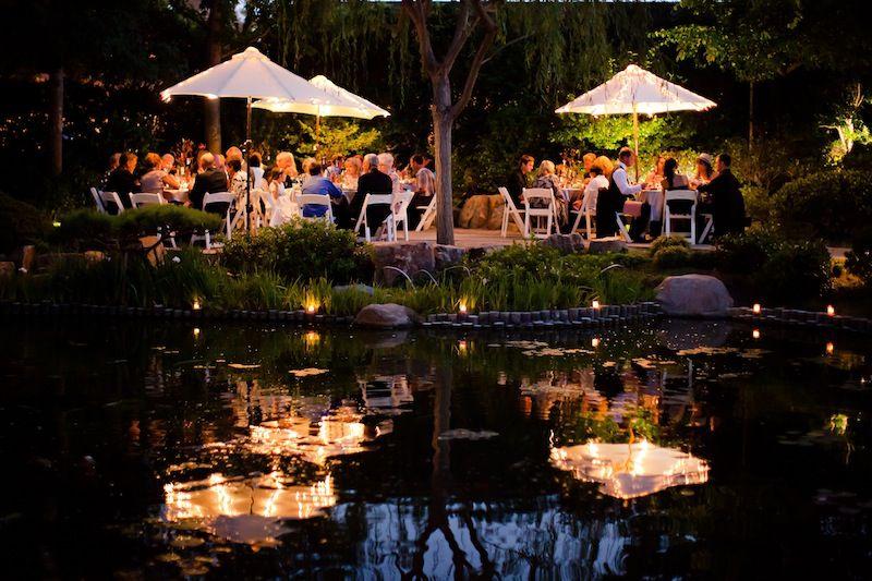 Earl Burns Miller Japanese Garden Evening Wedding Reception