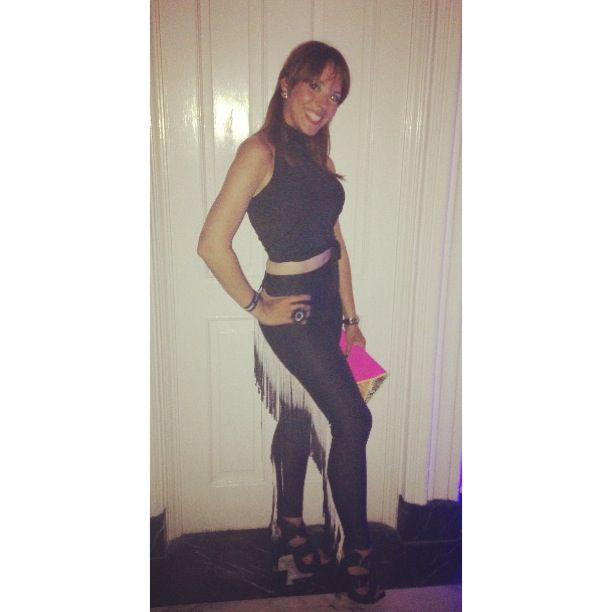 Marianna Quiles, sexy as always, spotted at Jack's House, wearing our ómbre tassel high waist leggings! @marianinsqui