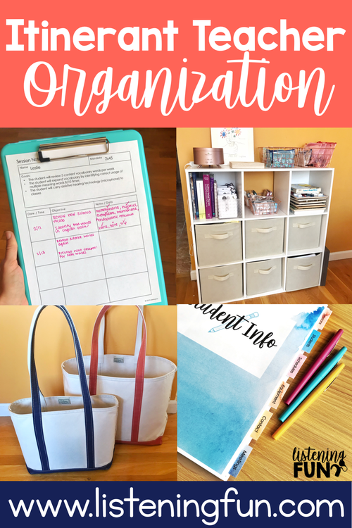 Itinerant Teacher Of The Deaf Organization Tips For Organizing Student Data Therapy Materials And Home Teacher Organization Student Organization Student Data