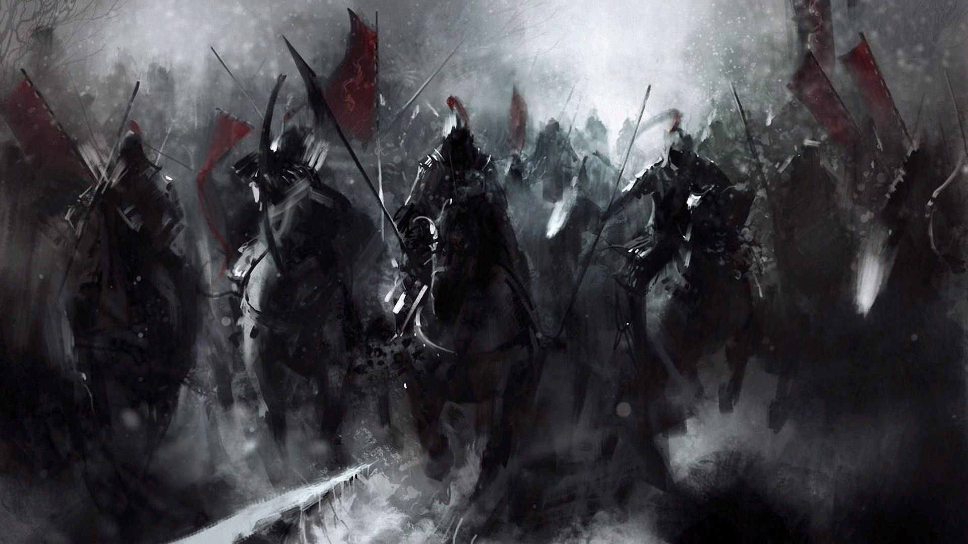 Army Bow Cavalry Battle Medieval Fantasy Art Warrior War Artwork Wallpaper Fantasy Concept Art Dark Fantasy Fantasy Artwork