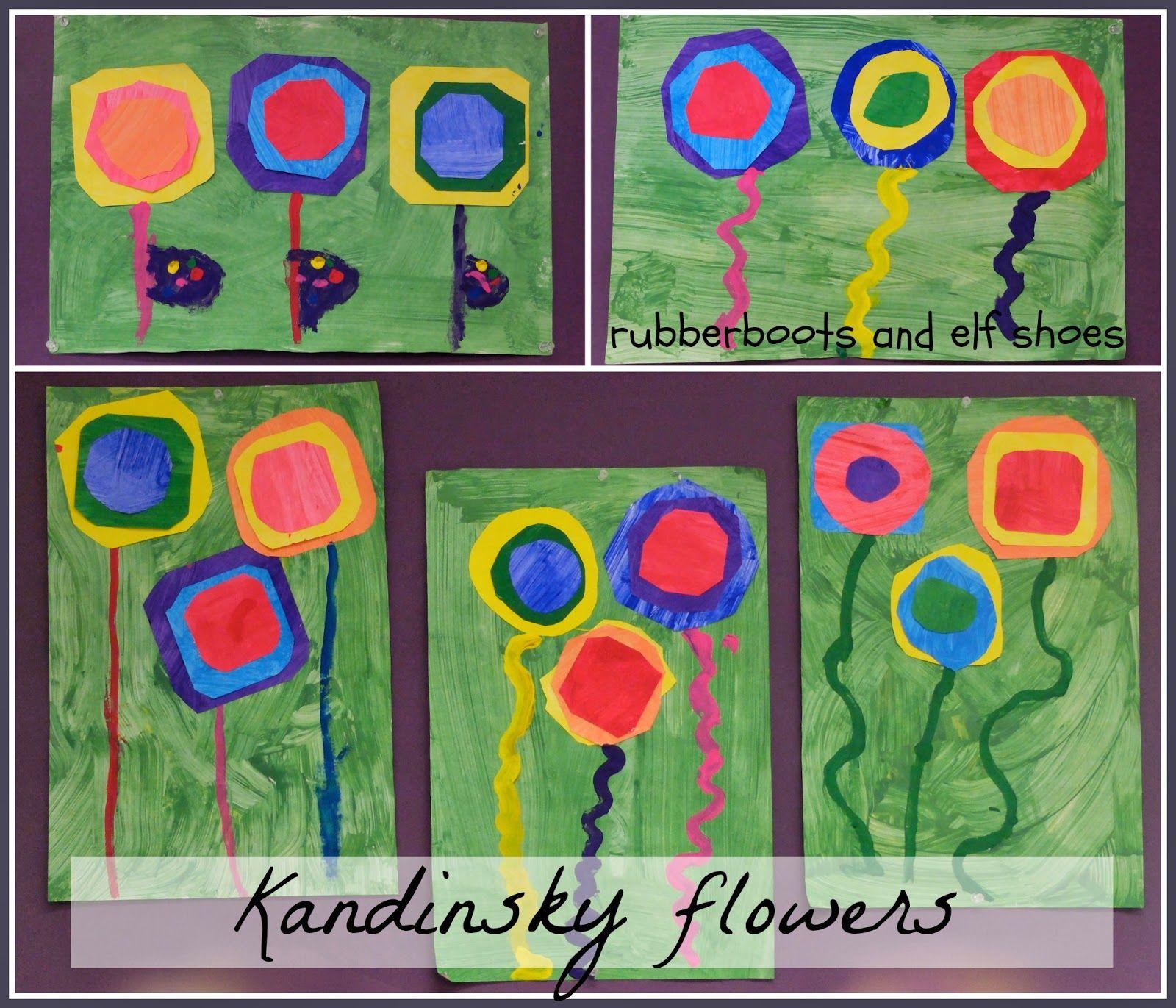 Beautiful Kandinsky Inspired Spring Flowers Created By Kindergarten Kids