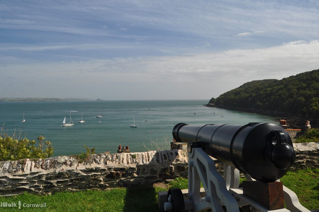 Cannon overlooking Cawsand Bay, Cornwall
