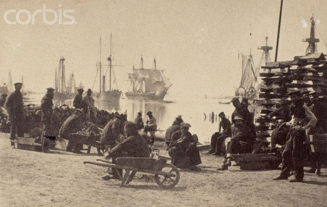 Baton Rouge Wharves, Louisiana, 1862
