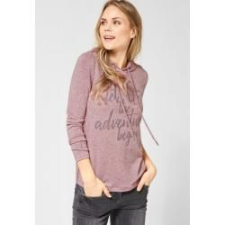 Photo of Cecil – Hoodie Shirt mit Strass in Light Misty Rose Melange Cecilcecil