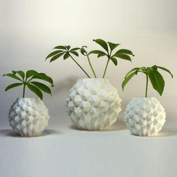Tropical Planter Geometric Pot Indoor Decorative Planter