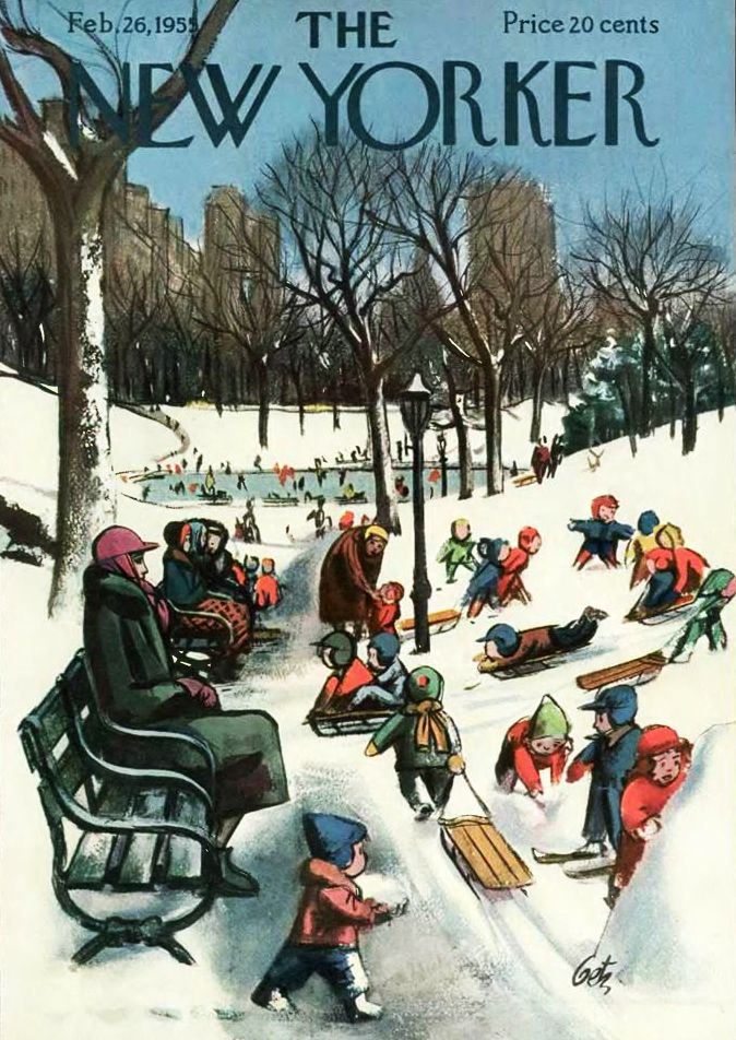 The New Yorker Magazine - February 26, 1955. Art by Arthur Getz.