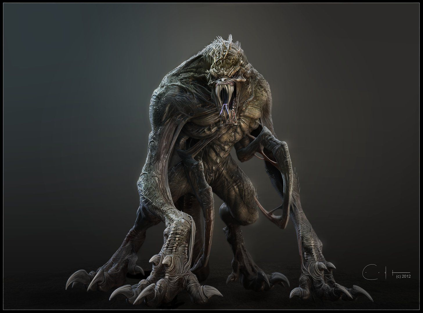 Monster concept ben erdt on artstation at http www for Createur 3d