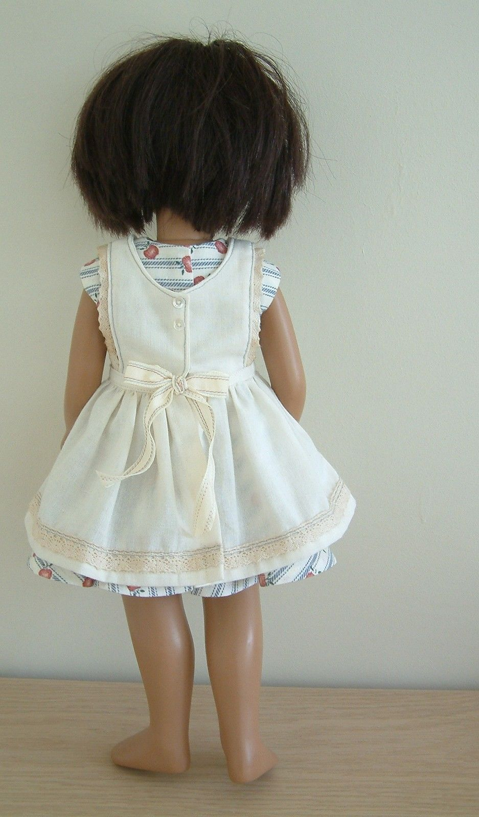 White pinafore apron ebay - Dress And Pinafore Apron For 17 Inch Sasha Doll In Ebay