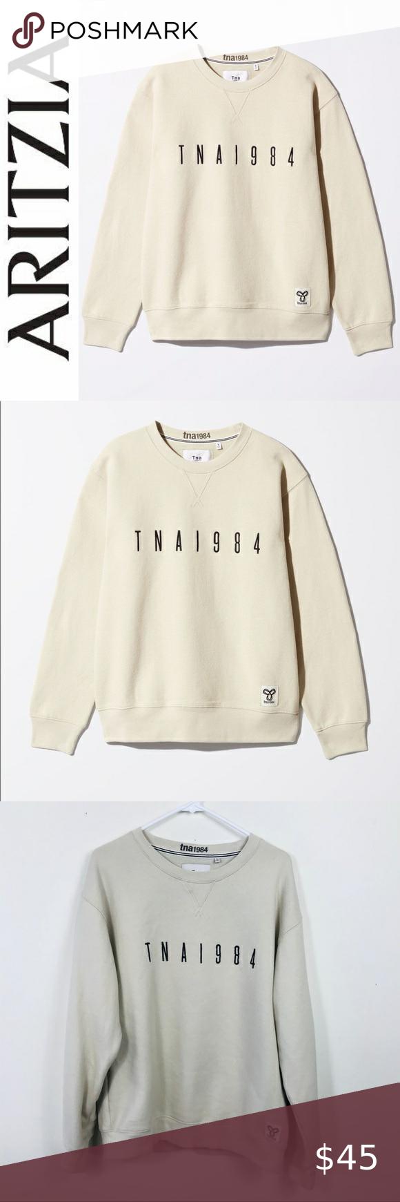 Aritzia Tna 1984 Avalanche Cream Crew Sweatshirt L Sweatshirts Crew Sweatshirts Sweatshirt Tops [ 1740 x 580 Pixel ]
