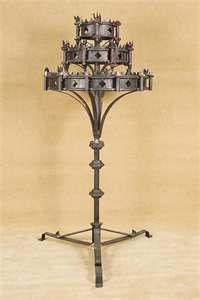 Vintage Frestanding Medieval Gothic Candelabra Embrace