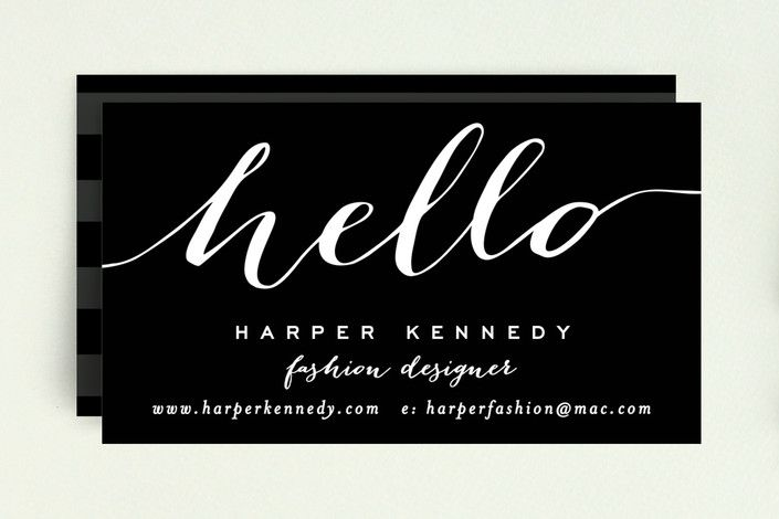 Chic Black and Gold Business Cards by Hooray Creative at minted.com